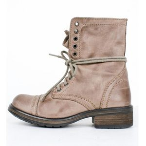 Steve Madden Troopa 2.0 Distressed Combat Boots